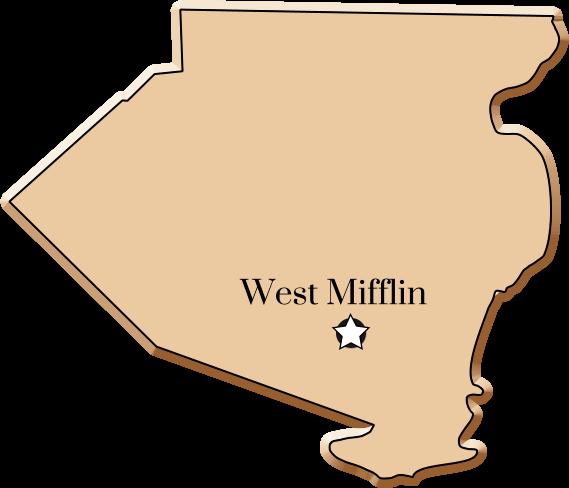 West Mifflin map