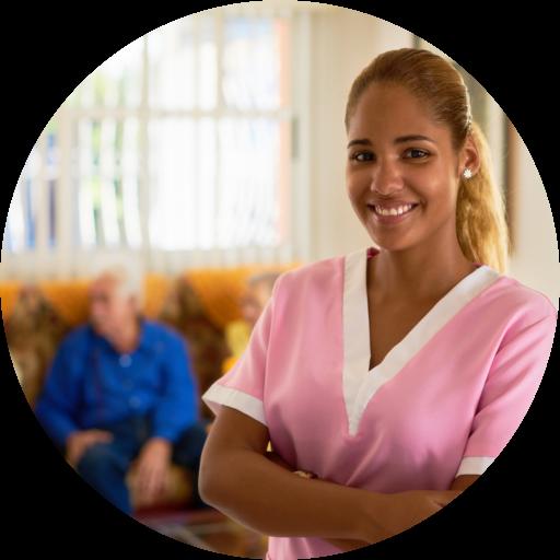 portrait of a smiling caregiver